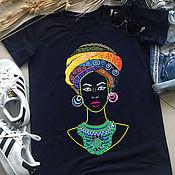 Одежда handmade. Livemaster - original item Afrika art-colors print t-shirt-TEE10219CT. Handmade.
