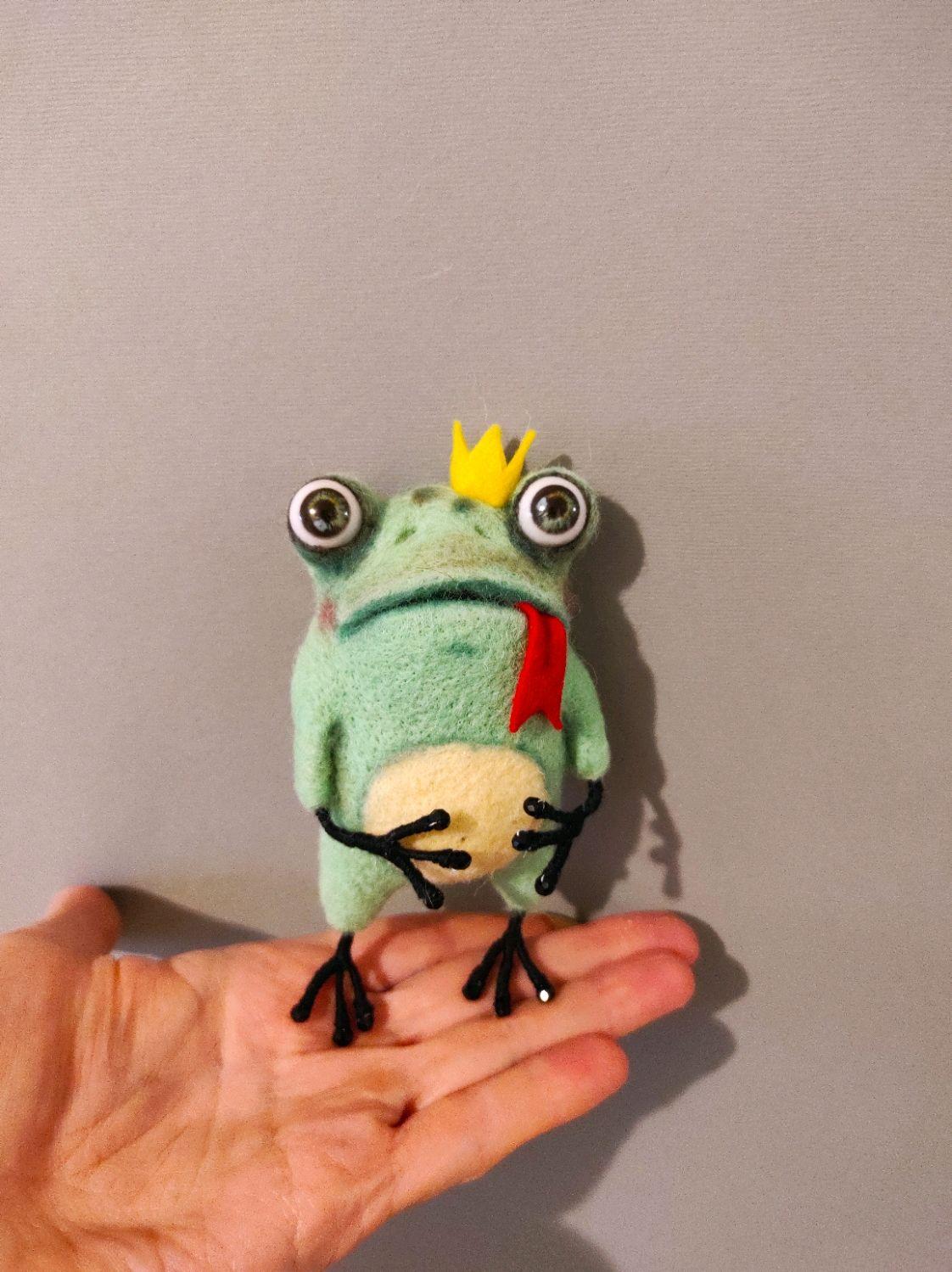 Валяная игрушка:принцесса-лягушка Эмма, Войлочная игрушка, Сыктывкар,  Фото №1