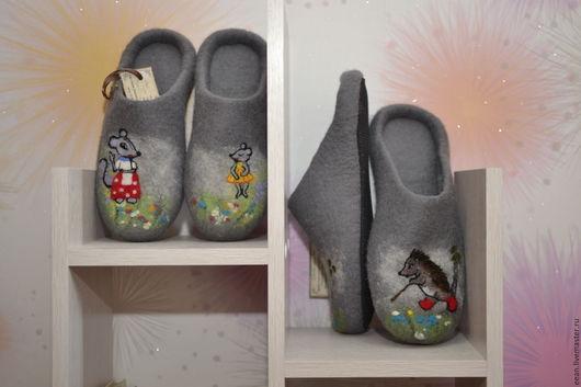 Обувь ручной работы. Ярмарка Мастеров - ручная работа. Купить По мотивам любимых сказок.... Handmade. Валяные тапочки