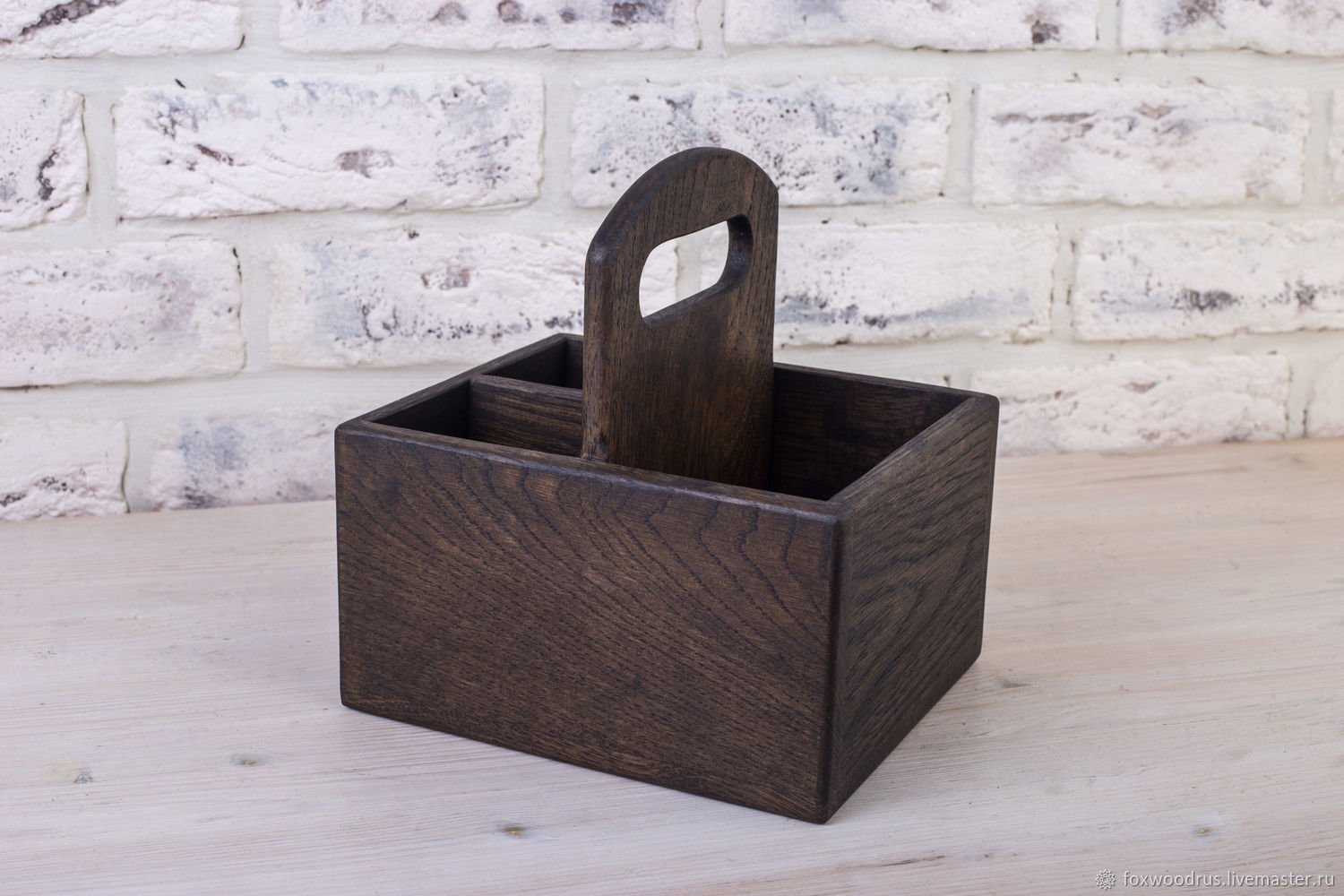 Order Stand For Condiments And Napkins 125mm Dark Oak Foxwoodrus