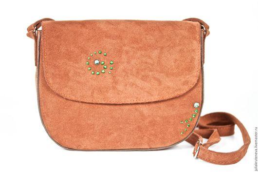 Женские сумки ручной работы. Ярмарка Мастеров - ручная работа. Купить Сумка через плечо. Handmade. Коричневый, сумка женская