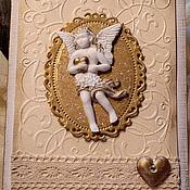 """Открытки ручной работы. Ярмарка Мастеров - ручная работа Открытка """"Ангел"""". Handmade."""