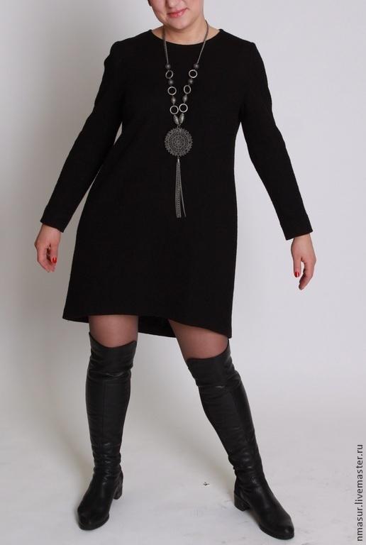 Платья ручной работы. Ярмарка Мастеров - ручная работа. Купить Тёплое шерстяное платье. Handmade. Черный, теплое платье