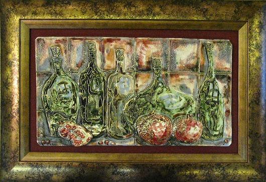 Натюрморт ручной работы. Ярмарка Мастеров - ручная работа. Купить Гранатовое вино. Handmade. Гранат, бордовый, Керамика, ручная работа