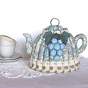 Посуда handmade. Livemaster - original item Warmer for teapot Blue grapes. A gift for a cozy kitchen. Handmade.