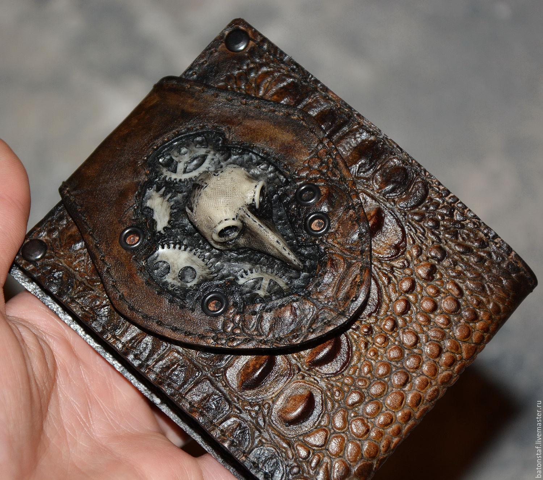 Стимпанк кошелёк, портмоне, бумажник - подарок мужчине, Аксессуары, Москва,  Фото №1