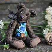 Куклы и игрушки handmade. Livemaster - original item Blue rose miniature Teddy bear. Handmade.