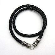 Украшения handmade. Livemaster - original item Choker cord Gaitan leather braided lock - tigers silver. Handmade.