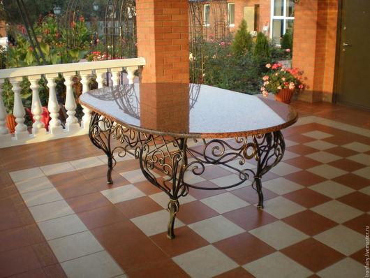Мебель ручной работы. Ярмарка Мастеров - ручная работа. Купить Стол кованый овальной формы. Handmade. Комбинированный, растительный орнамент