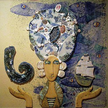 """Картины и панно ручной работы. Ярмарка Мастеров - ручная работа Панно """"Королева морей"""". Handmade."""