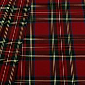 Ткани ручной работы. Ярмарка Мастеров - ручная работа Ткань костюмная клетка стрейч красная , КЛ 01 цв.3. Handmade.