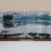 Винтаж handmade. Livemaster - original item Wall panels made of four plates of the