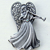 Винтаж handmade. Livemaster - original item brooch angel from jj. Handmade.