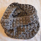 Аксессуары handmade. Livemaster - original item Grey scarf-Snood, collar, pipe. Handmade.