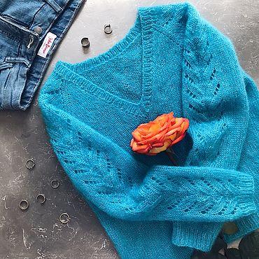 Материалы для творчества ручной работы. Ярмарка Мастеров - ручная работа Мастер-класс по вязанию пуловер Sorrento. Handmade.