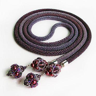 Decorations handmade. Livemaster - original item Beaujolais bead Lariat. Handmade.