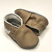 Одежда детская handmade. Livemaster - original item Light Brown Baby Shoes, Baby Moccasins, Leather Baby Shoes. Handmade.