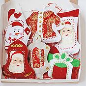 Подарки к праздникам handmade. Livemaster - original item Christmas decorations out of felt. Handmade.