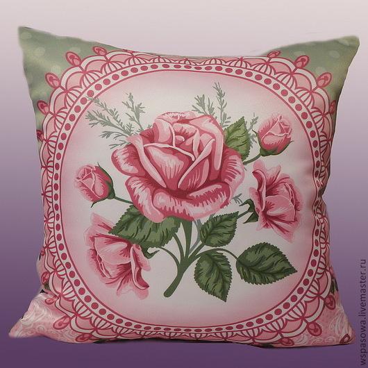 Текстиль, ковры ручной работы. Ярмарка Мастеров - ручная работа. Купить Подушка шебби rose 2. Handmade. Бледно-розовый