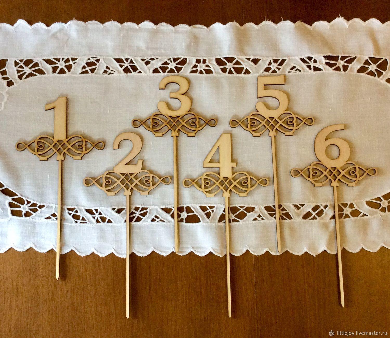 Цифры на палочки и на подставке. Для свадьбы, праздника, юбилея, Объемные цифры и буквы, Москва,  Фото №1