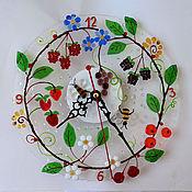 """Для дома и интерьера ручной работы. Ярмарка Мастеров - ручная работа Часы""""Лесная поляна"""". Handmade."""