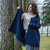 Одежда handmade. Livemaster - original item Large size cardigan made of Merino wool Madam. Handmade.