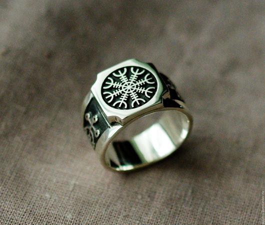 """Украшения для мужчин, ручной работы. Ярмарка Мастеров - ручная работа. Купить кольцо """"Агисхьяльм"""". Handmade. Агисхильям, серебро"""