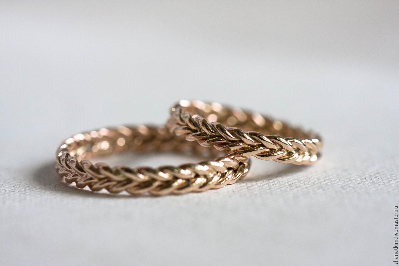 Обручальные плетеные кольца