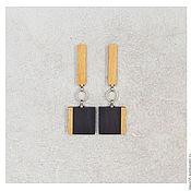 Украшения handmade. Livemaster - original item Rectangular earrings.. Handmade.
