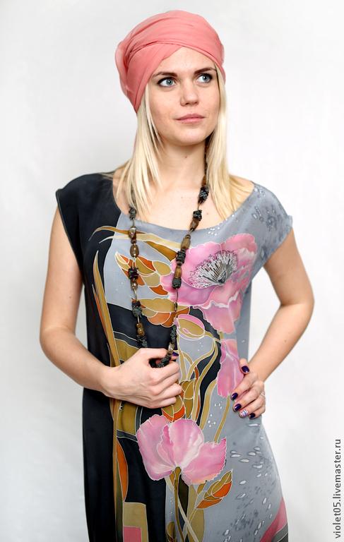 """Платья ручной работы. Ярмарка Мастеров - ручная работа. Купить Мое любимое платье """"Пастель эклектика"""" - ручная роспись батик. Handmade."""