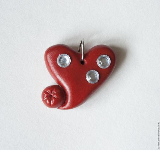 Кулоны, подвески ручной работы. Ярмарка Мастеров - ручная работа. Купить Кулон-сердце. Handmade. Ярко-красный, красный, кулон