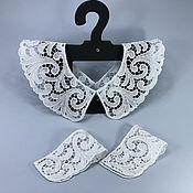 handmade. Livemaster - original item Lace collar with cuffs. White collar.. Handmade.