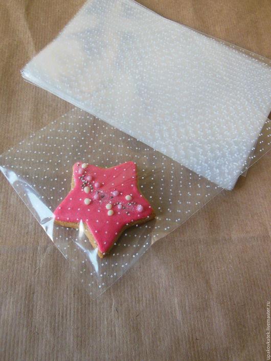 Упаковка ручной работы. Ярмарка Мастеров - ручная работа. Купить Прозрачный пакет с рисунком, 13х20см. Handmade. Белый, пакет подарочный