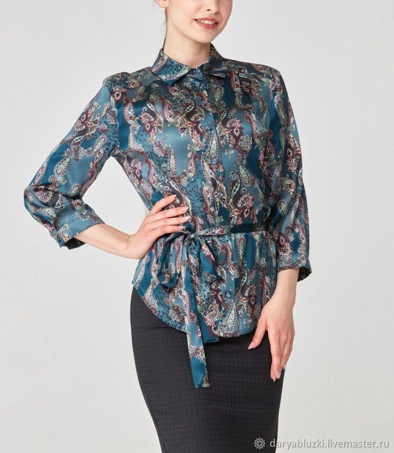блузка шелк купить