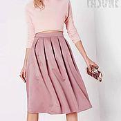 """Одежда ручной работы. Ярмарка Мастеров - ручная работа Розовая юбка сатиновая """"Розовое облако"""" Розовая юбка Розовая юбка. Handmade."""