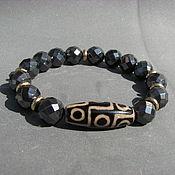 Украшения handmade. Livemaster - original item Bracelet with hemitite and Dzi 9 eyes