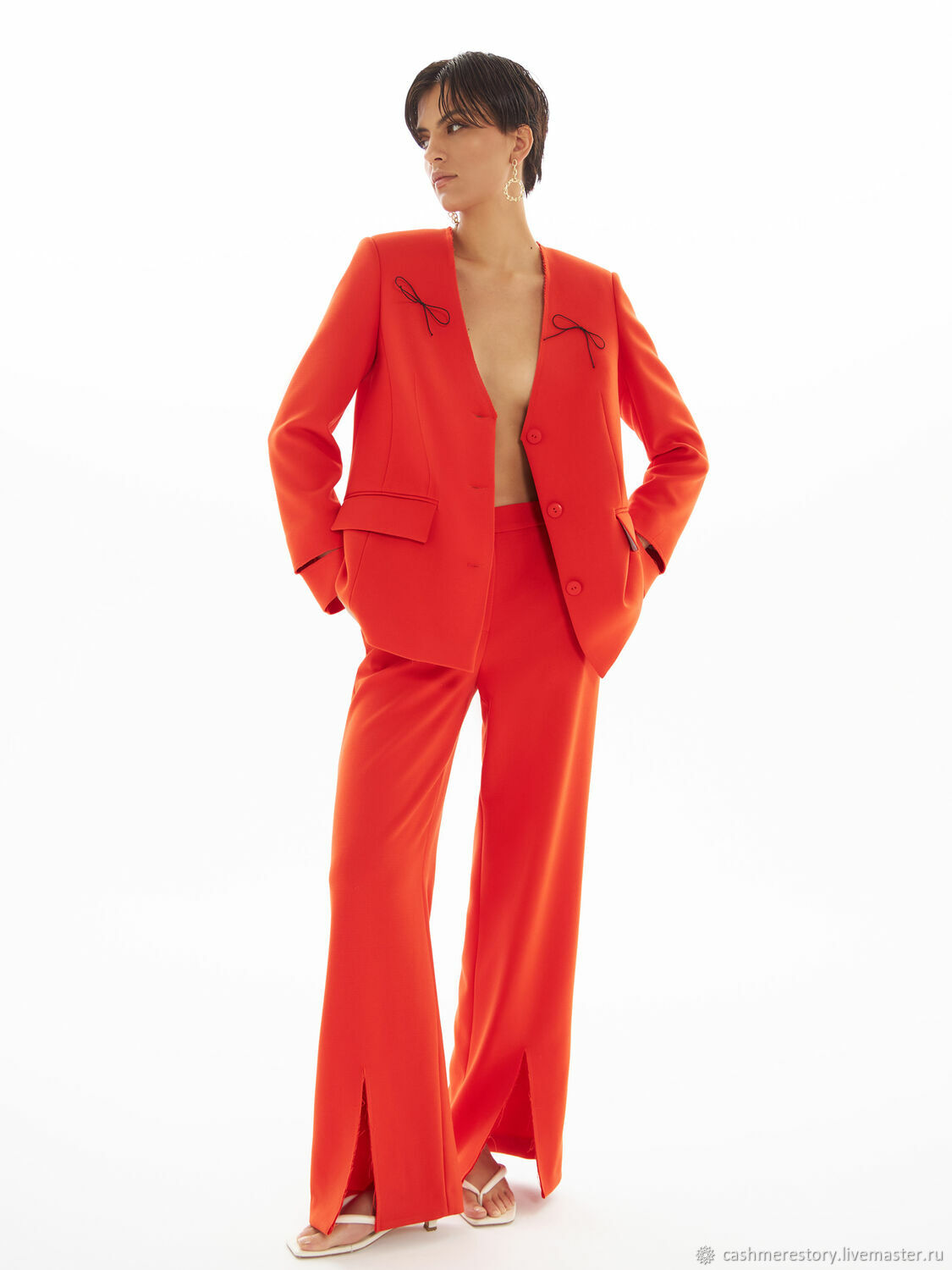 Suit: elongated jacket and trousers with slits, Suits, Moscow,  Фото №1