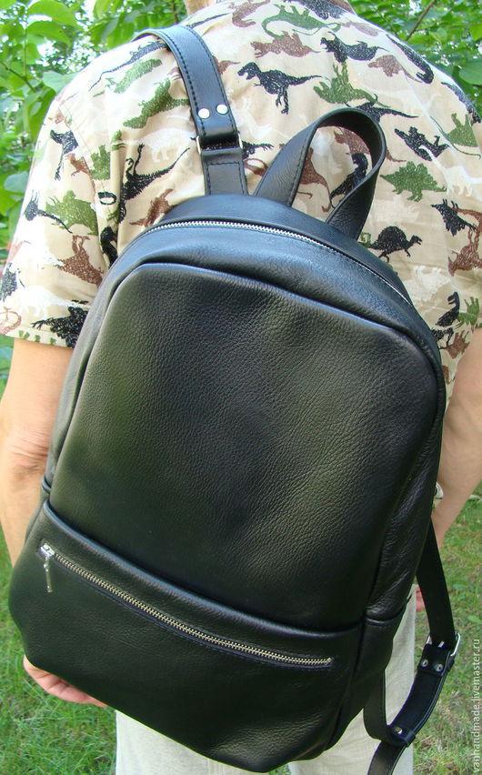 Рюкзаки ручной работы. Ярмарка Мастеров - ручная работа. Купить Стильный кожаный рюкзак. Индивидуальный пошив.. Handmade. Черный