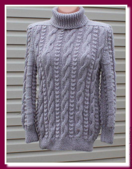 Кофты и свитера ручной работы. Ярмарка Мастеров - ручная работа. Купить Женский вязаный свитер, свитер вязаный  с козьим пухом. Handmade.