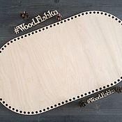 Каркасы для вязания ручной работы. Ярмарка Мастеров - ручная работа Деревянное толстое дно для вязания люльки колыбельки донышко. Handmade.
