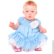 """Платья ручной работы. Ярмарка Мастеров - ручная работа Платье для малышки """"Голубая лагуна"""". Handmade."""
