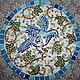 Животные ручной работы. Ярмарка Мастеров - ручная работа. Купить Мозаика Голубка.. Handmade. Разноцветный, голубой цвет, дачный интерьер