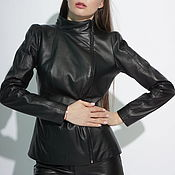 Одежда handmade. Livemaster - original item Leather jacket with a high shoulder. Handmade.