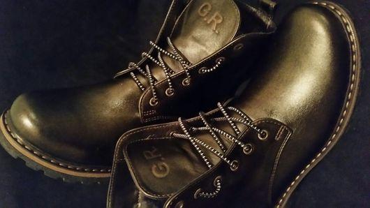 Обувь ручной работы. Ярмарка Мастеров - ручная работа. Купить Ботинки из натуральной кожи .. Handmade. Ботинки, байка