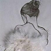 """Картины и панно ручной работы. Ярмарка Мастеров - ручная работа Картина """"Мой нежный ангел"""". Handmade."""