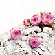 """Серьги ручной работы. Серьги с пионами """"Peonie maturi"""". Флористическая глина.. 'Poli-Flower'   (Надежда). Ярмарка Мастеров. Винтажные серьги"""