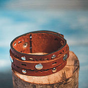 """Украшения ручной работы. Ярмарка Мастеров - ручная работа браслет ,,Кантри""""кожаный. Handmade."""