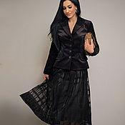 Одежда handmade. Livemaster - original item Elegant black skirt