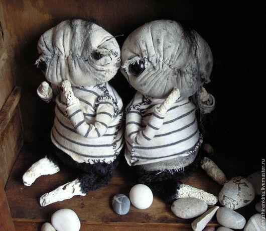 Коллекционные куклы ручной работы. Ярмарка Мастеров - ручная работа. Купить КАМНИ МОРЯ. Handmade. Серый, море, камни морские