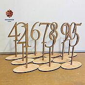 Свадебный салон handmade. Livemaster - original item Numbers for tables made of wood. Handmade.
